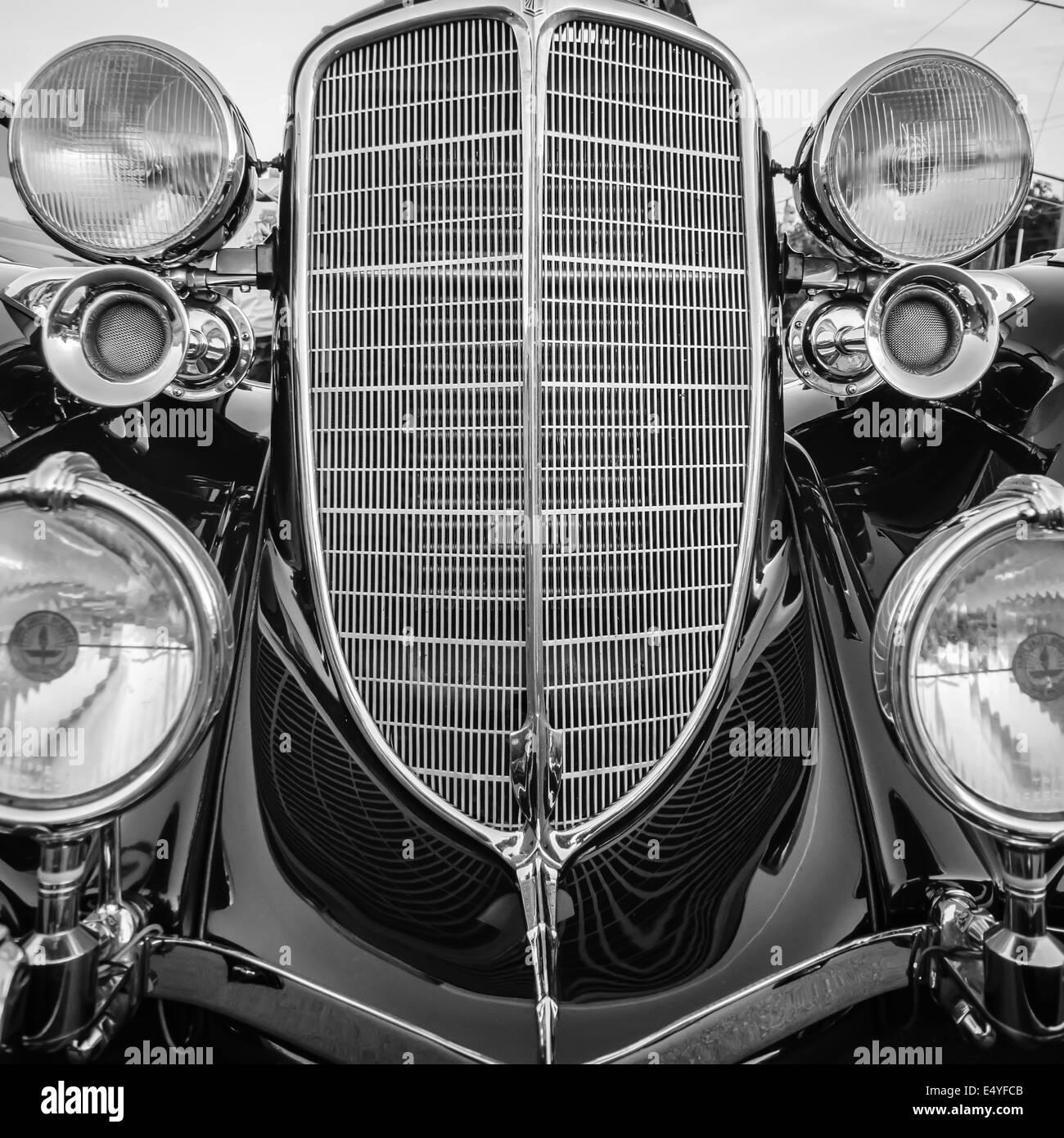 classic vintage car details - Stock Image