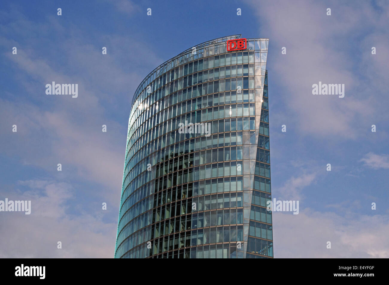 DB Tower Berlin Germany - Stock Image