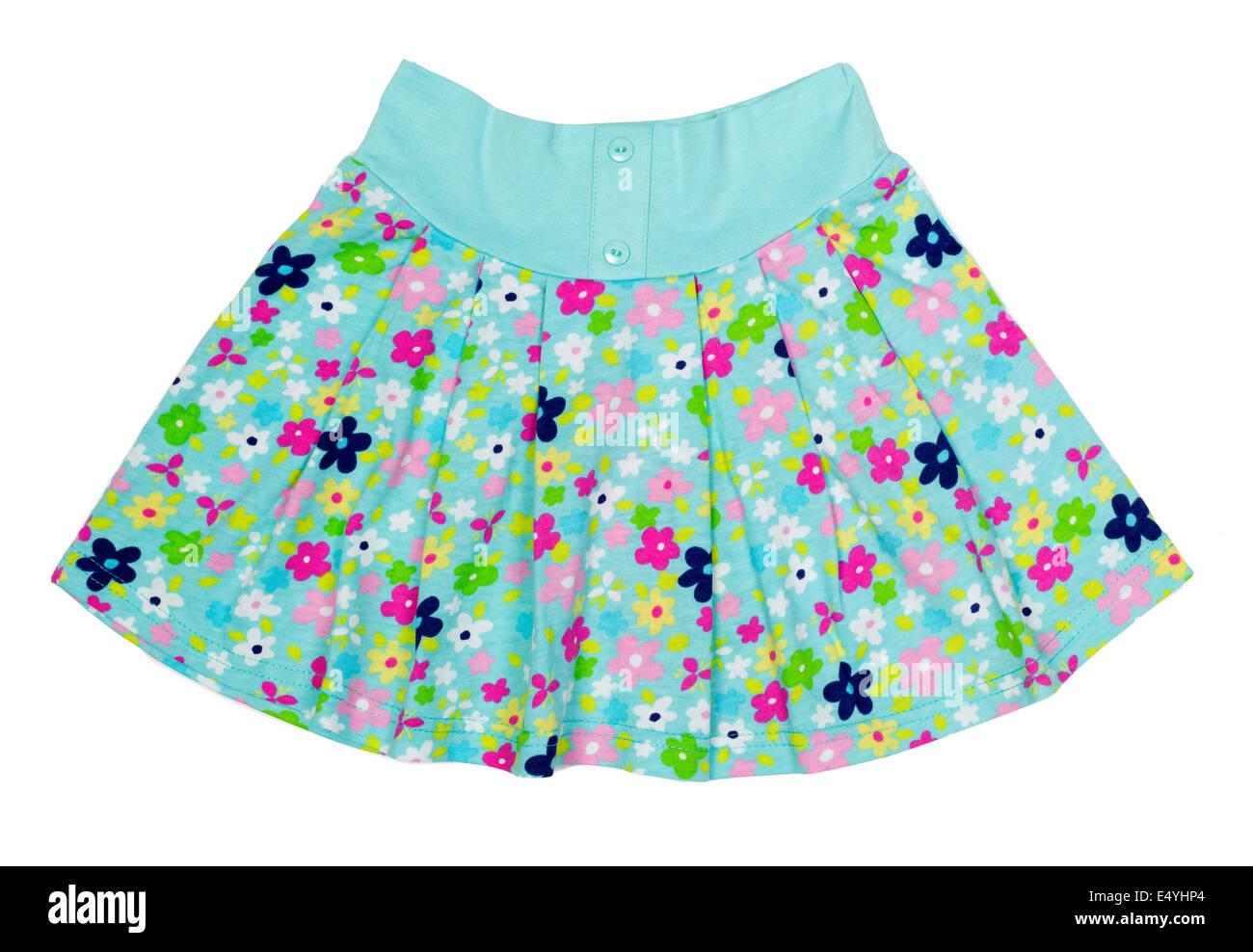 Children's summer skirt - Stock Image