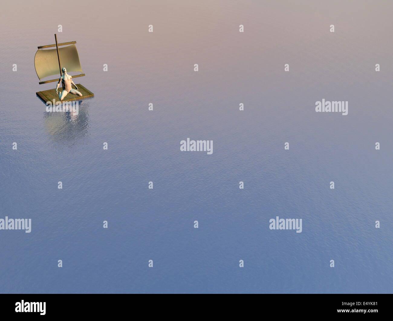 No help - 3D render Stock Photo