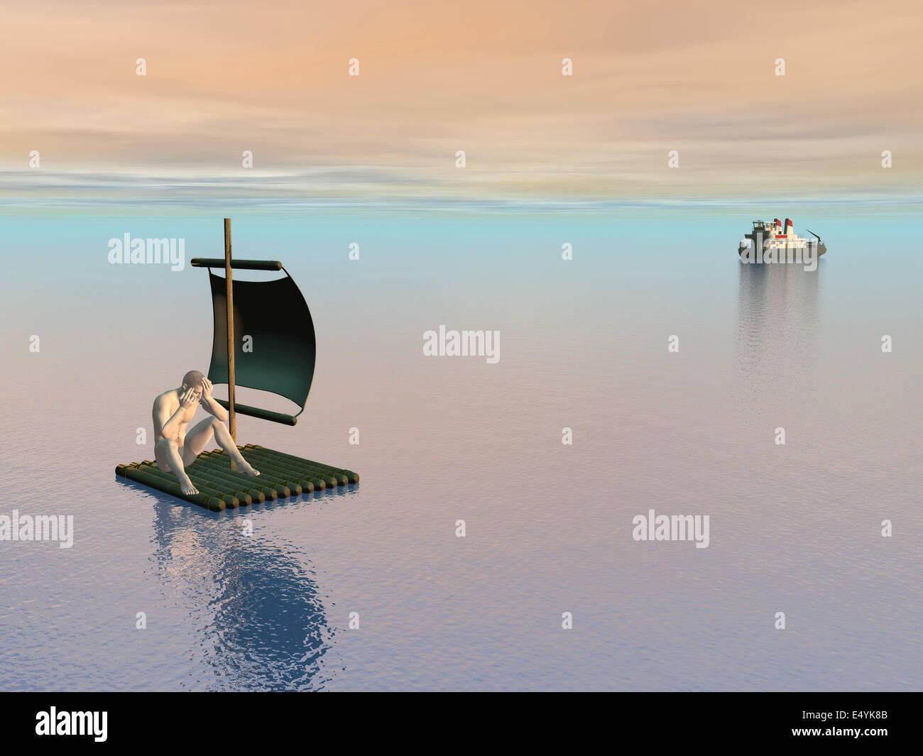 No help - 3D render - Stock Image