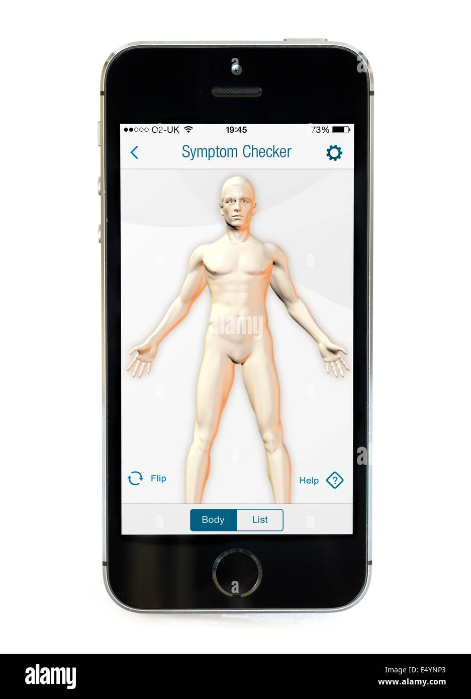 Symptom Checker on the WebMD app on an Apple iPhone 5S - Stock Image