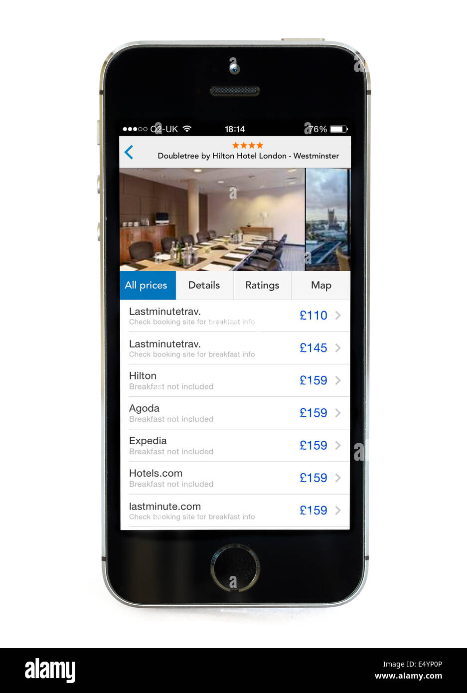 Trivago App The Hotel Price Comparison Tool On An Apple IPhone 5S