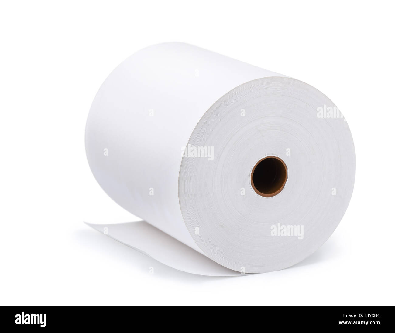 Large Roll Of Blank Paper Isolated On White Stock Photo 71913776