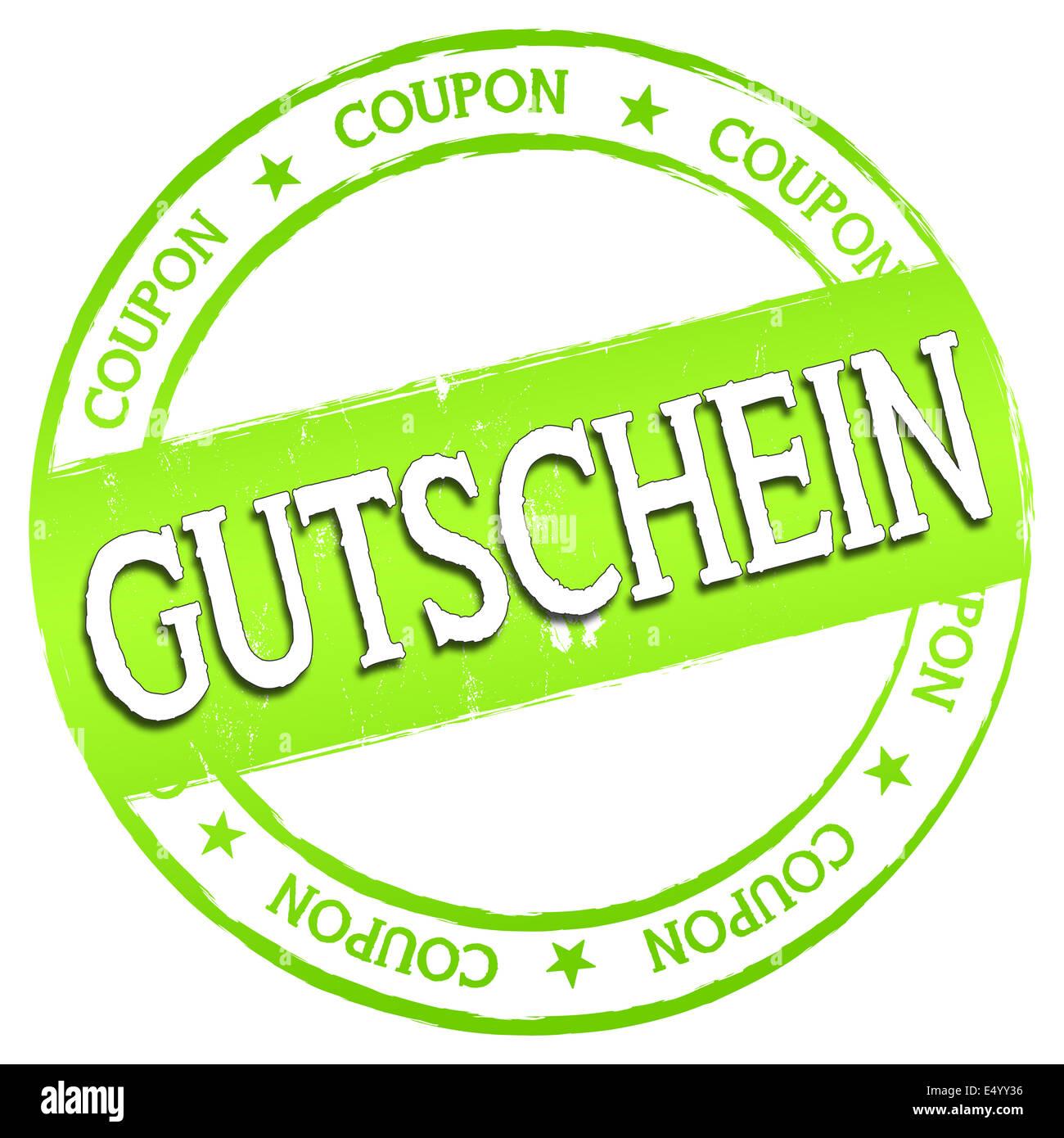 New Stamp - Gutschein - Stock Image
