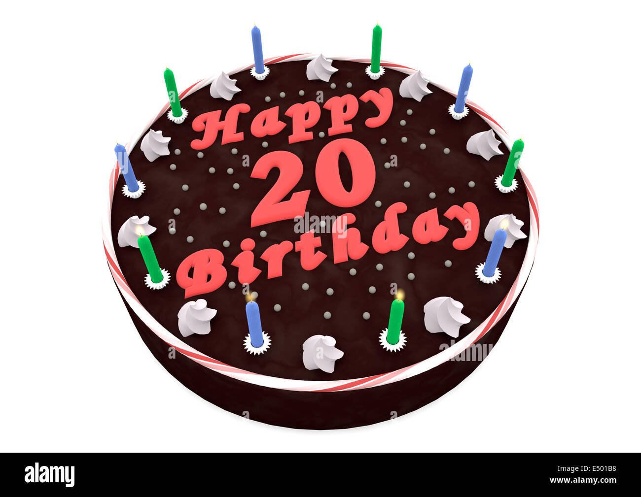 Amazing 20Th Birthday Cake Stock Photos 20Th Birthday Cake Stock Images Funny Birthday Cards Online Inifodamsfinfo
