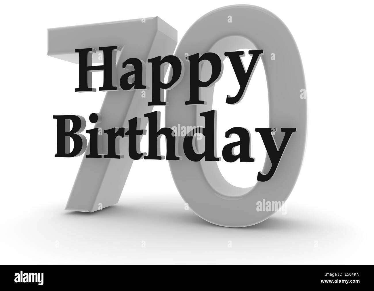 Happy Birthday For 70th Birthday Stock Photo 71918441 Alamy