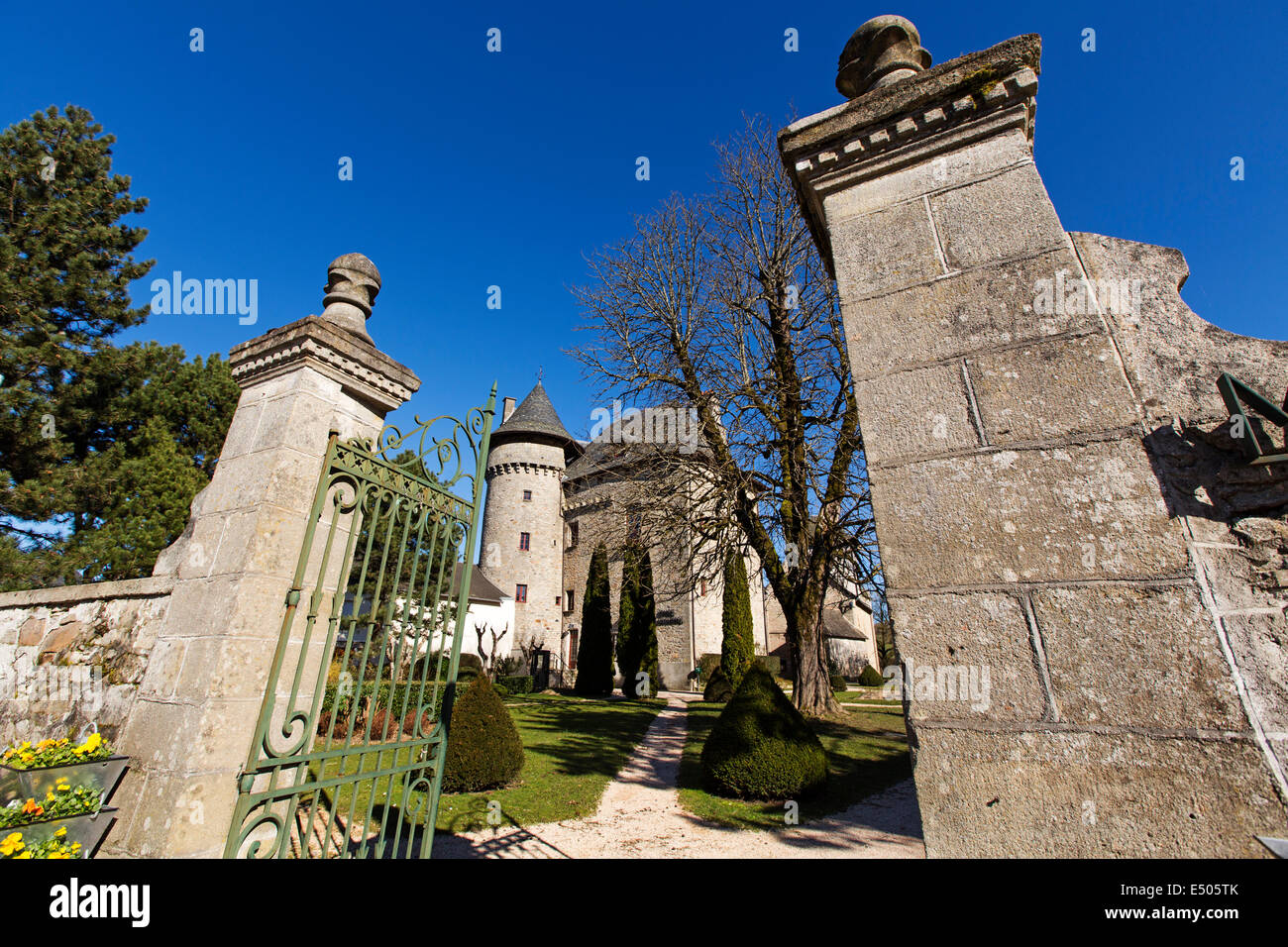 Castle Sainte-Fortunade Tulle France Stock Photo