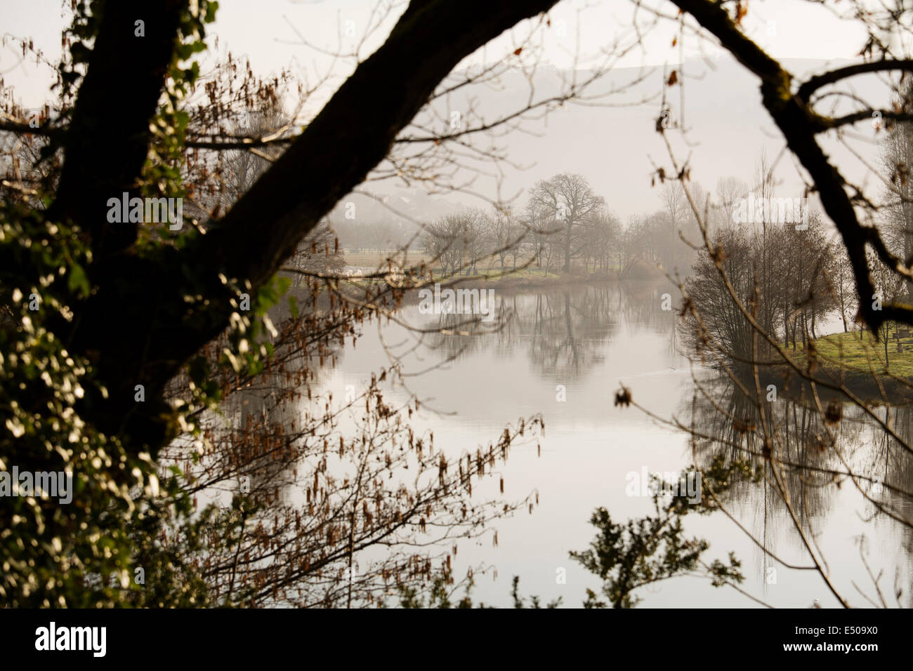 Dourdou river Conques France - Stock Image