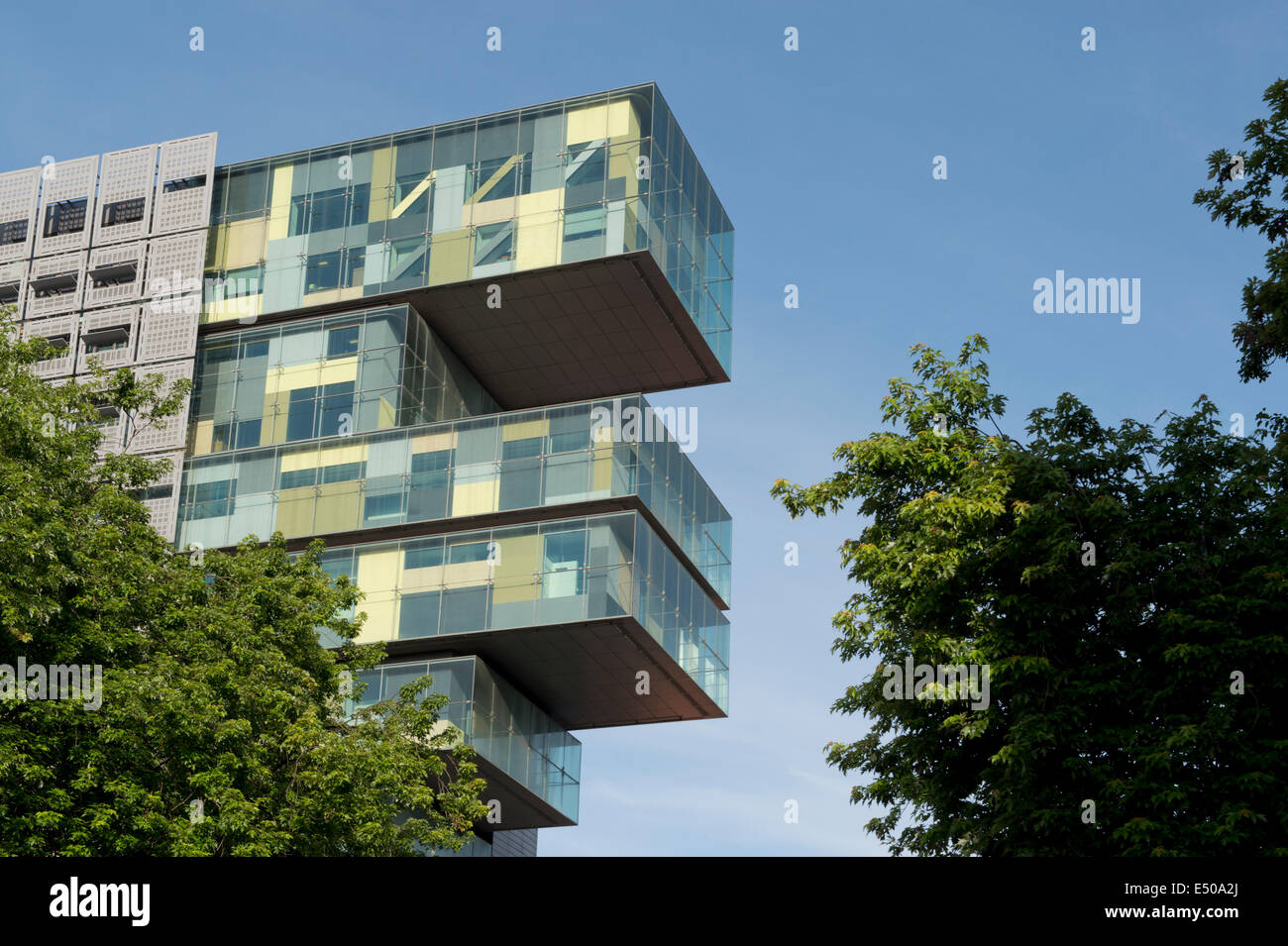 Manchester Civil Justice Centre on Bridge Street in Manchester UK, close to the law courts. - Stock Image