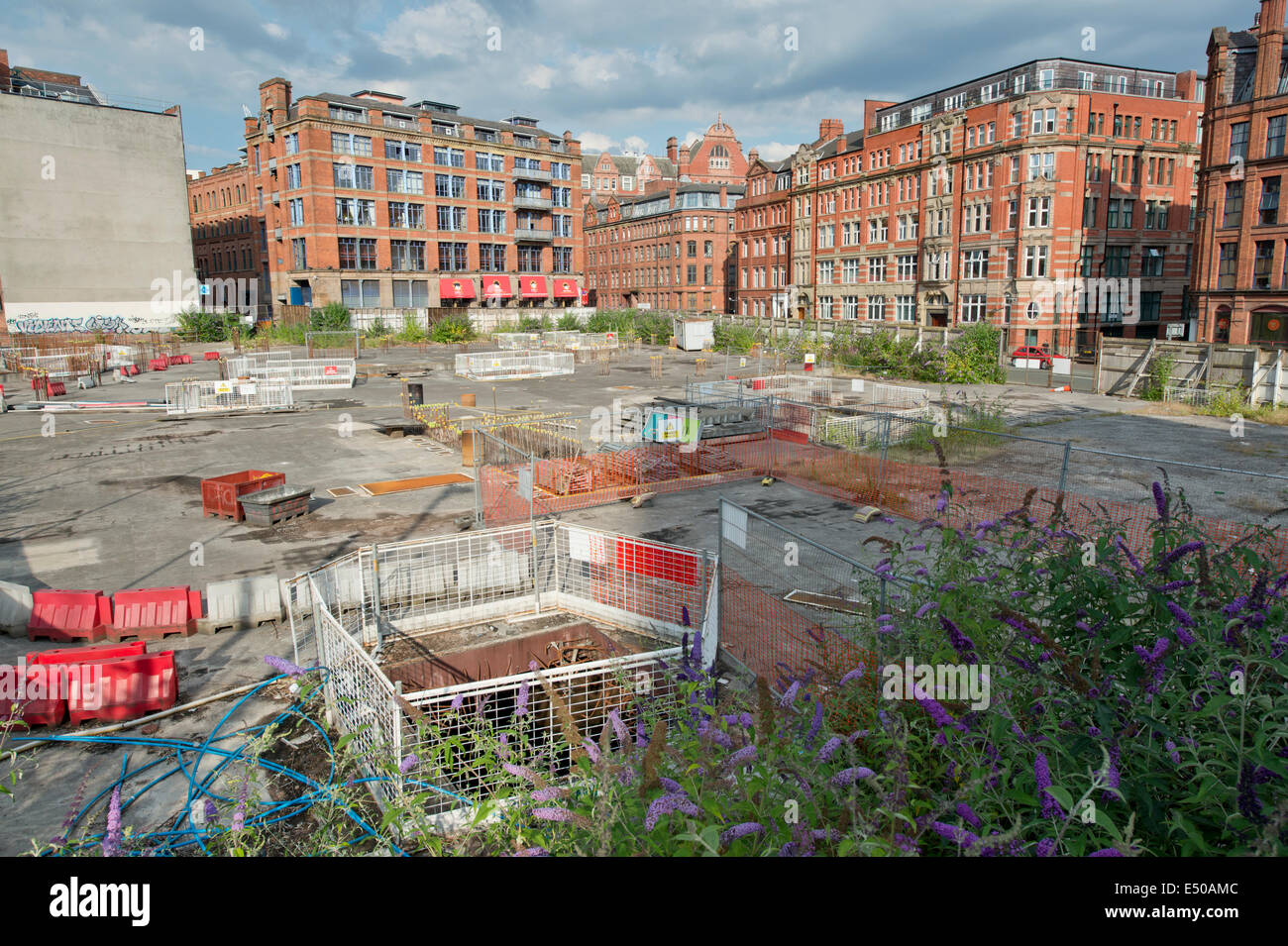 The seemingly abandoned development site of the Origin project located on Princess Street and Whitworth Street in - Stock Image