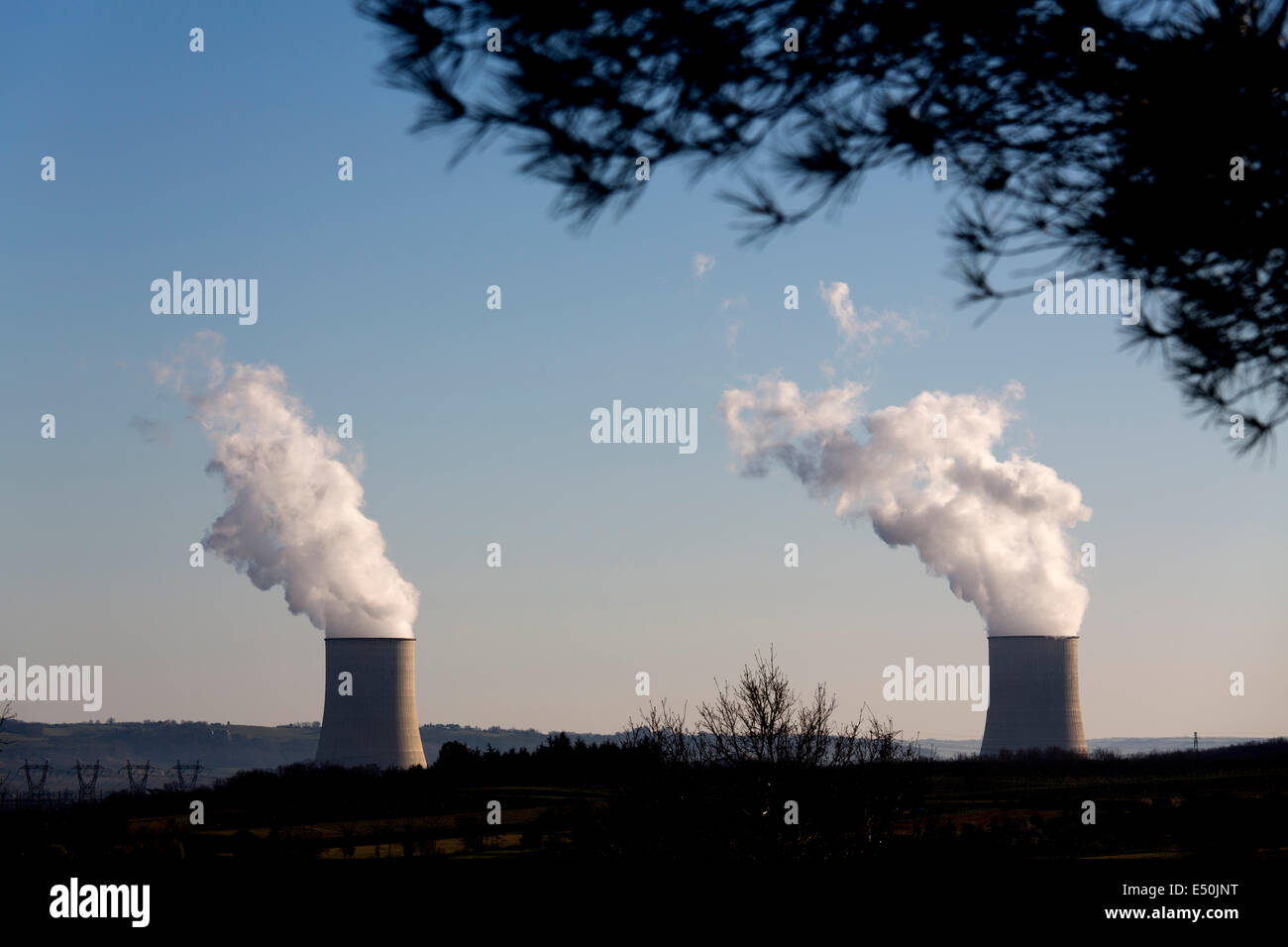 Nuclear plant energy France - Stock Image