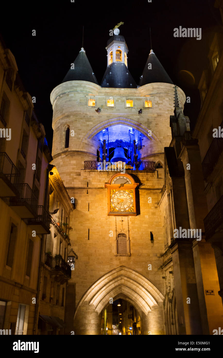 Grosse Cloche Gate Bordeaux Aquitaine France - Stock Image