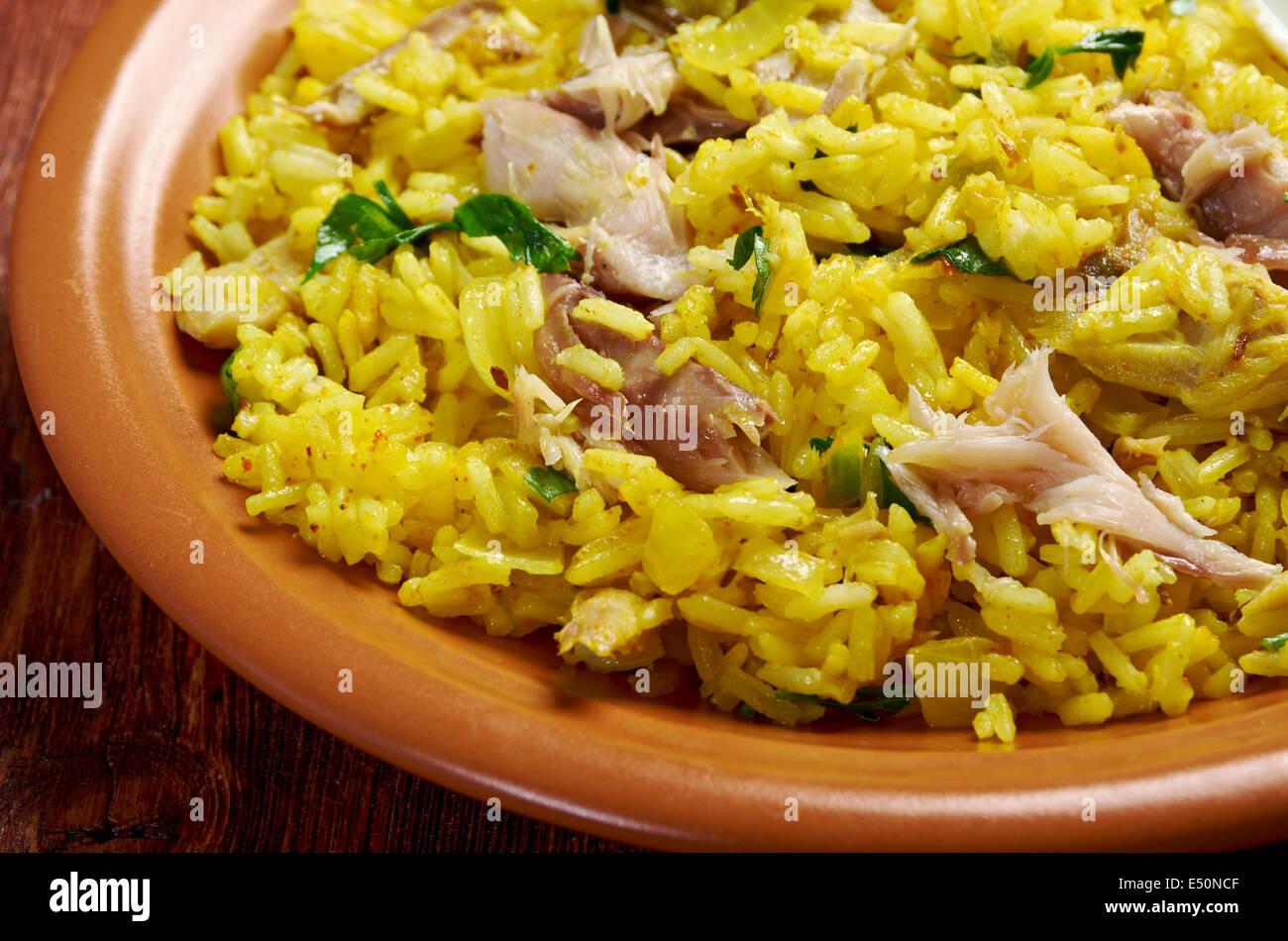 Scottish dish - Kedgeree Stock Photo