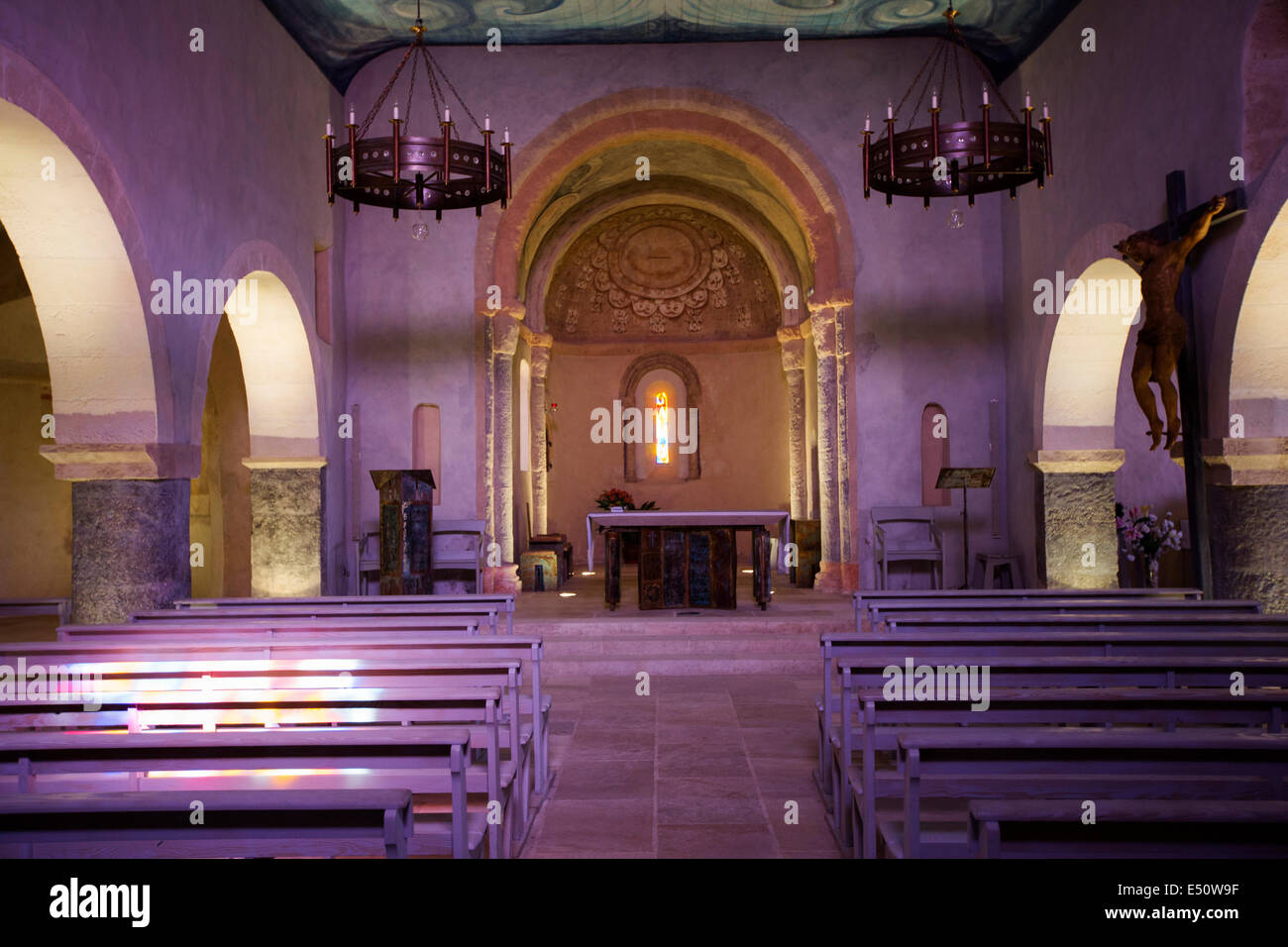 XI century Romanesque church Saint-Eloi Arcachon Bay Andernos-les-Bains Arcachon bay Aquitaine France - Stock Image