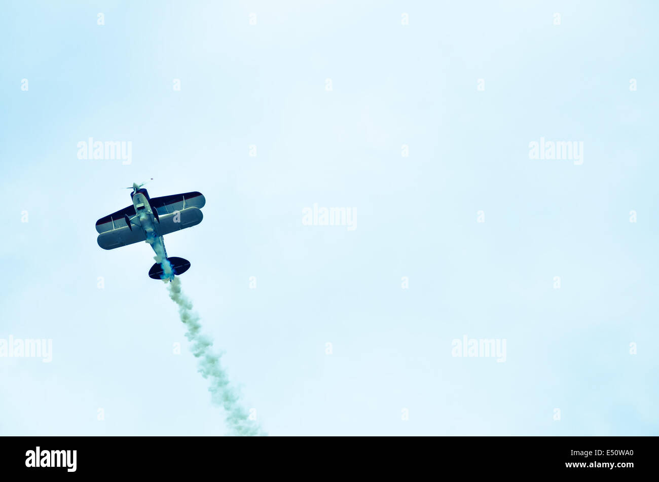action in the sky during an airshow - Stock Image