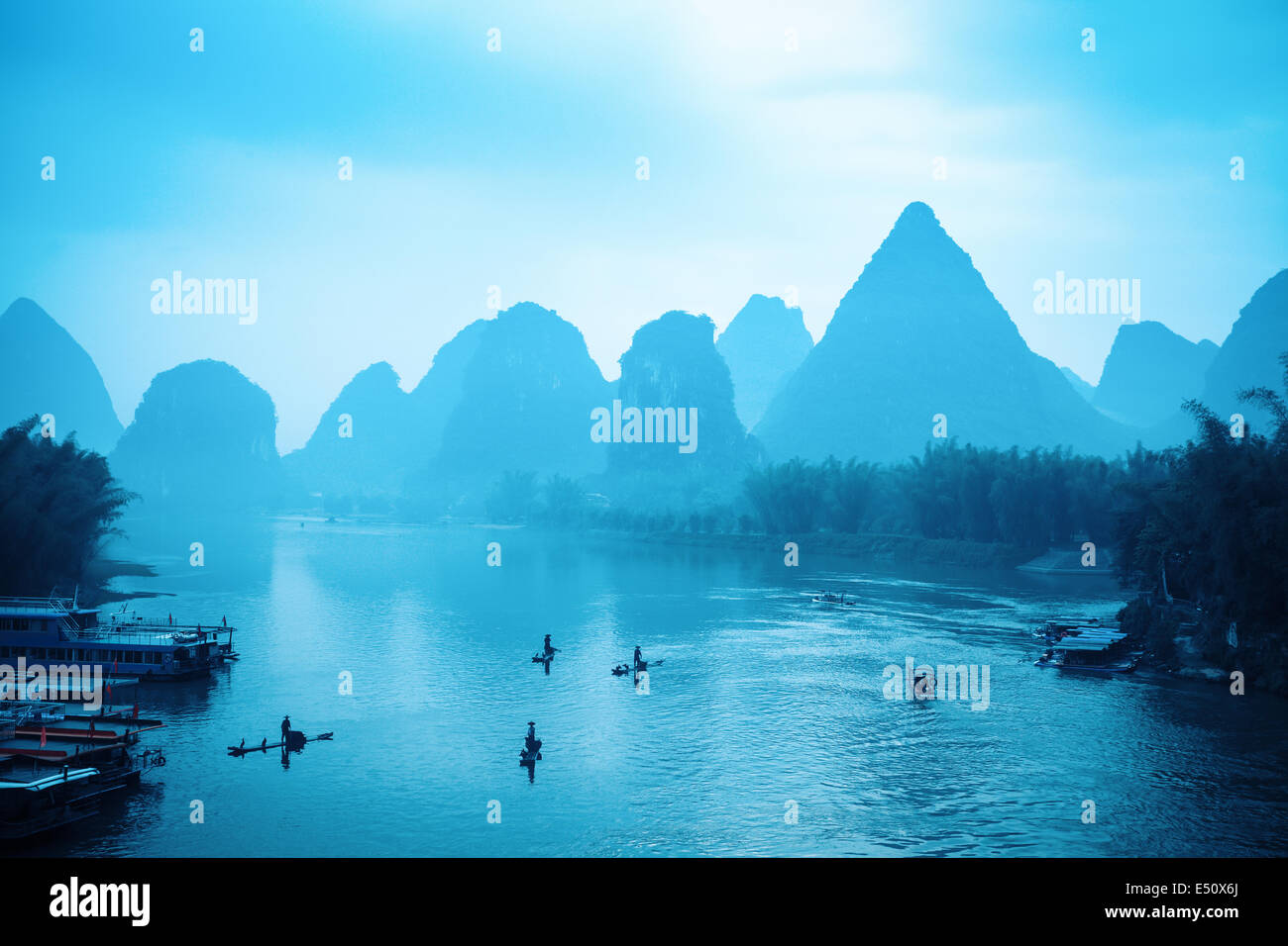 the scenery of guilin is world-renowned - Stock Image