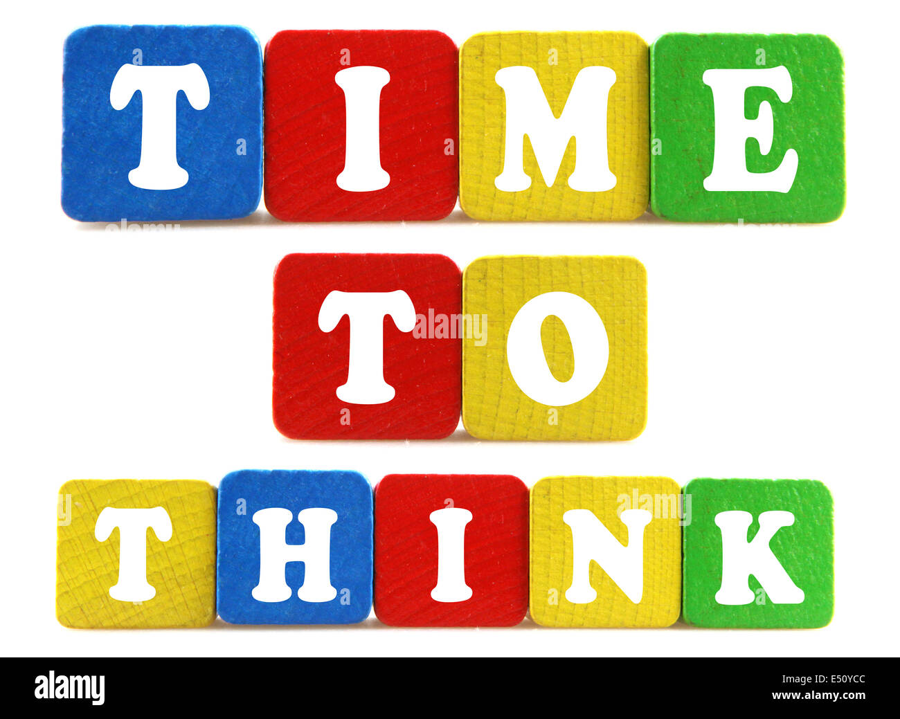 time to think concept - Stock Image