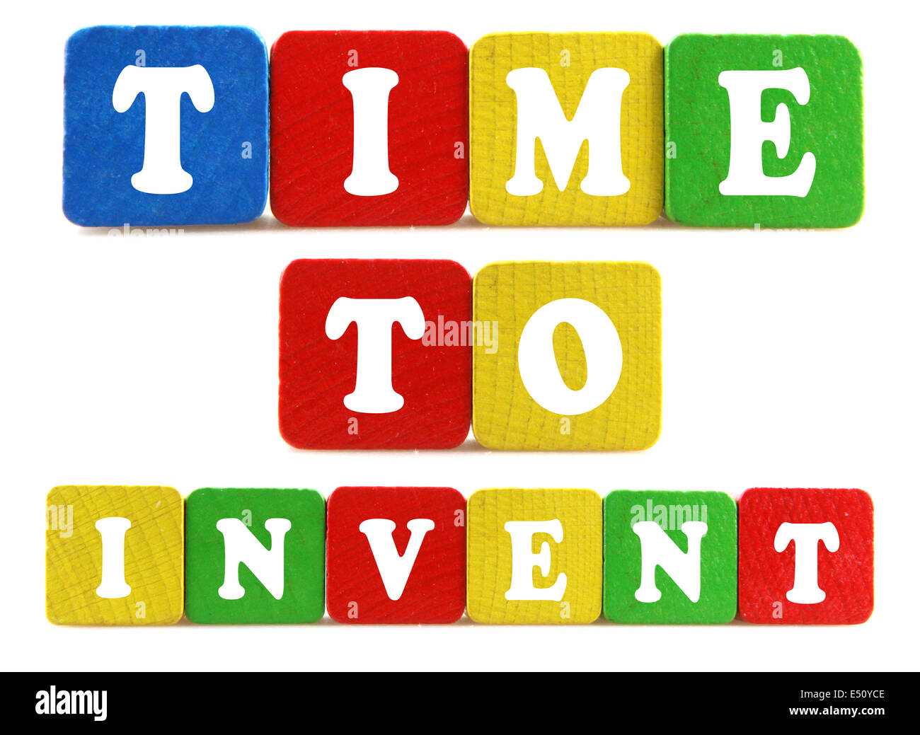 time to invent concept - Stock Image