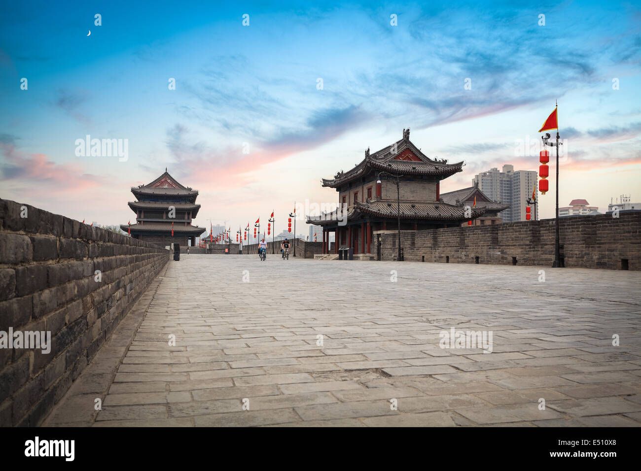 xi 'an ancient city wall scenery Stock Photo