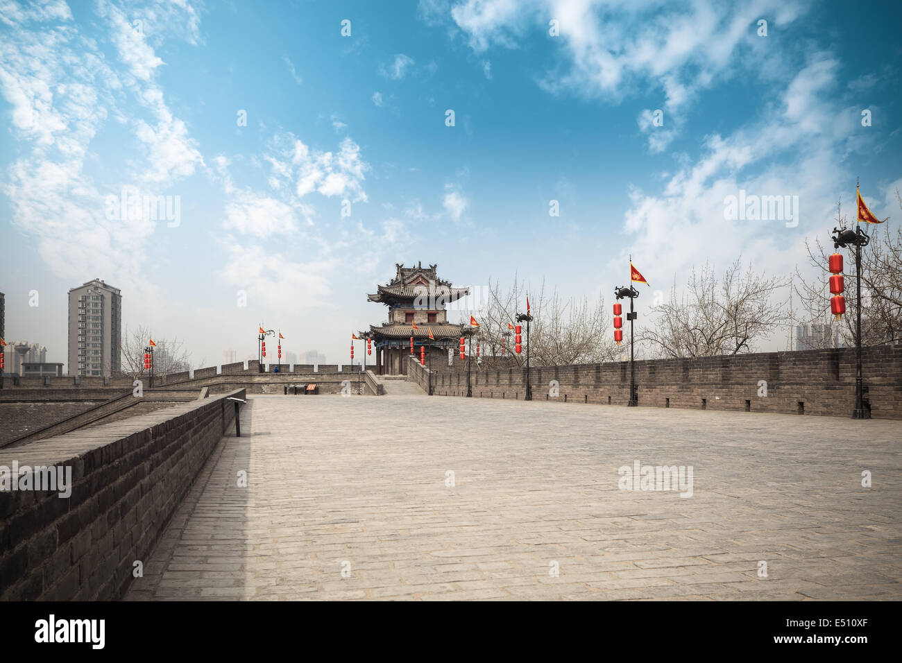 xi'an ancient city wall Stock Photo