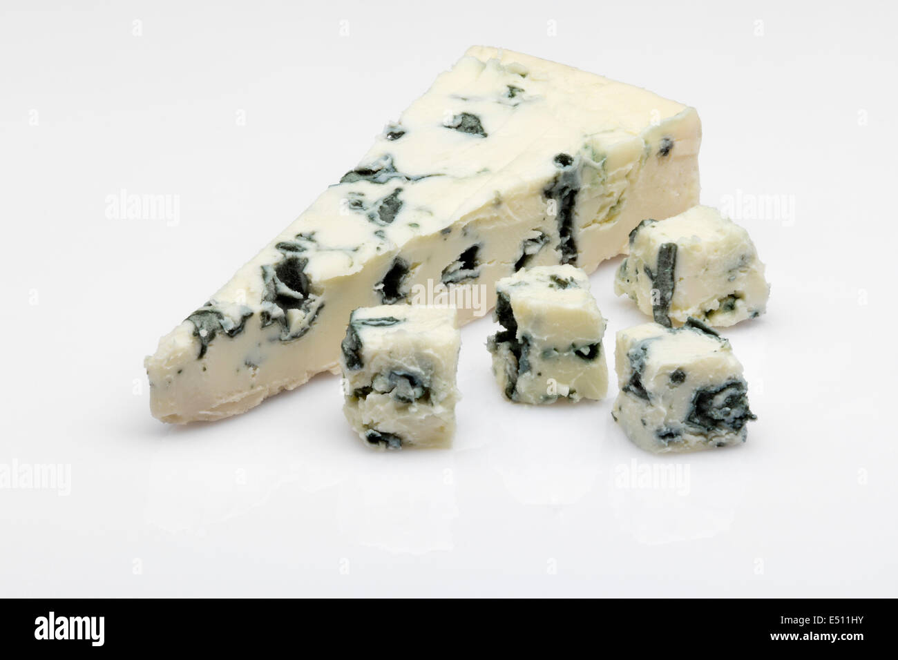 Blue cheese queso azul - Stock Image