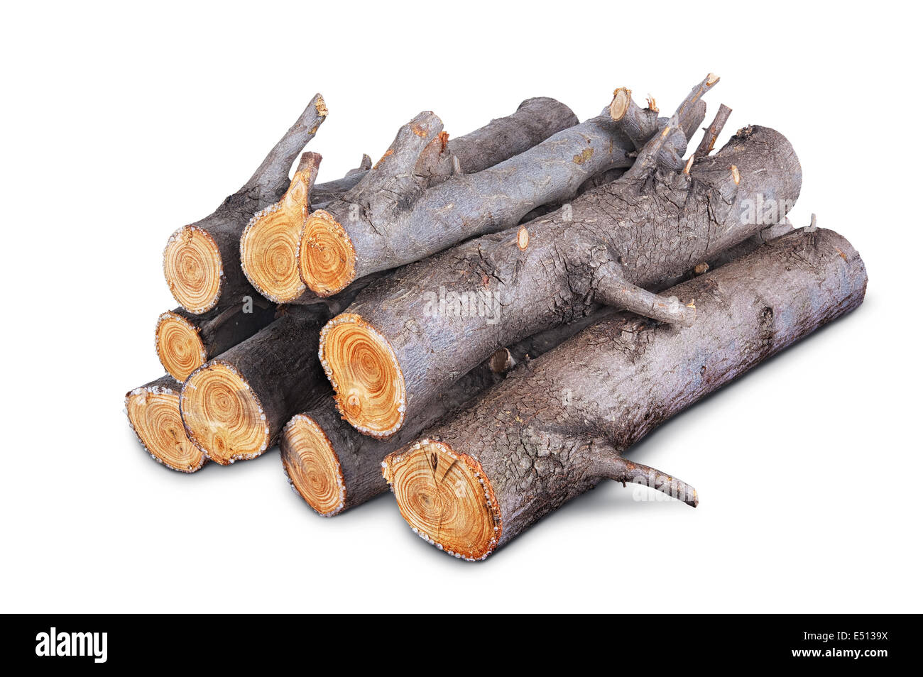 firewood logs - Stock Image