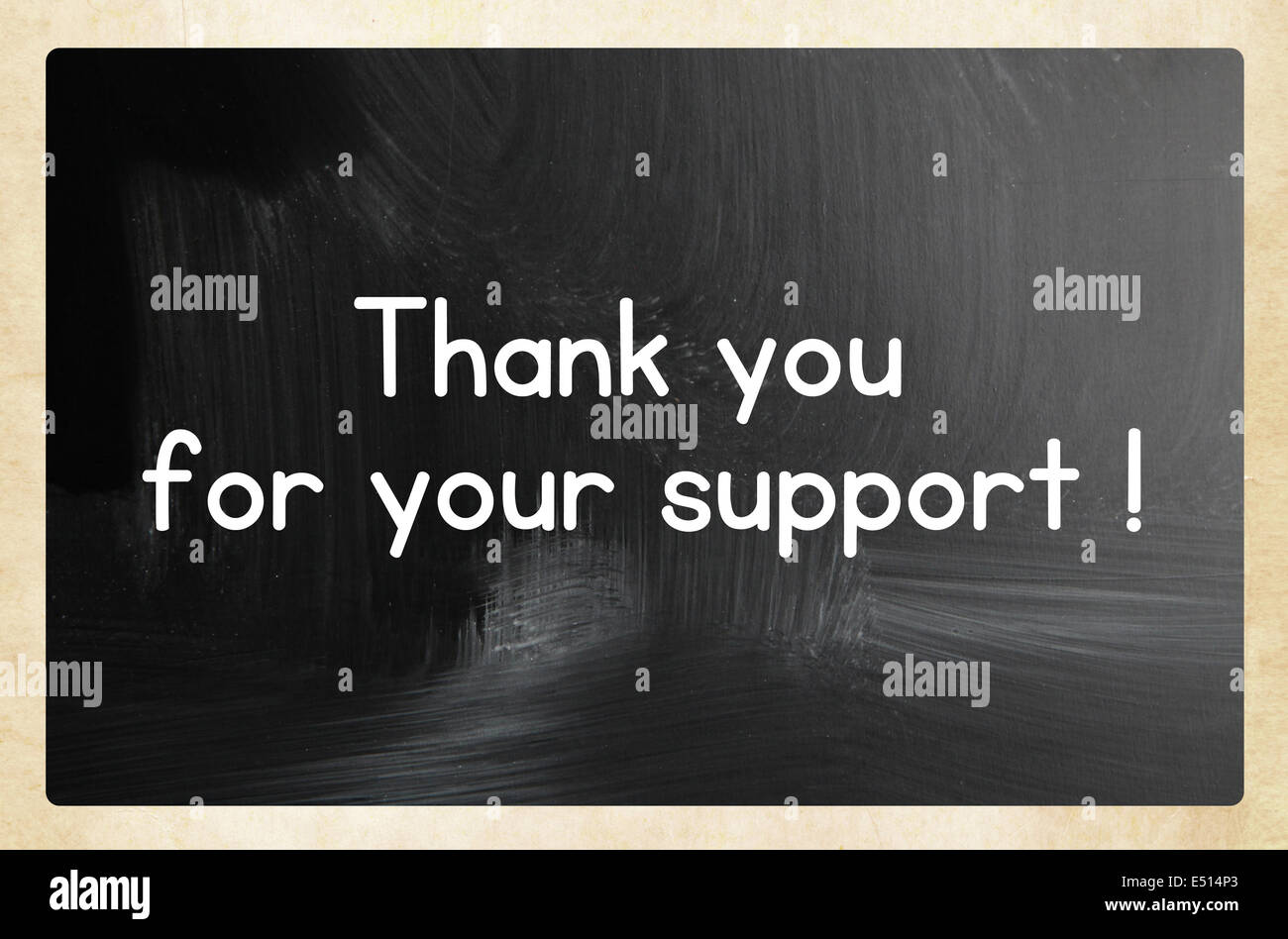 thank you for your support ! - Stock Image