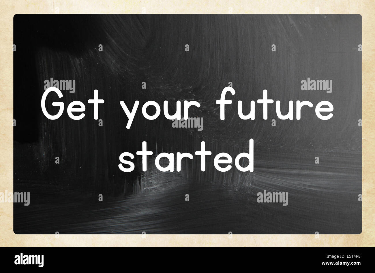 get your future started concept - Stock Image