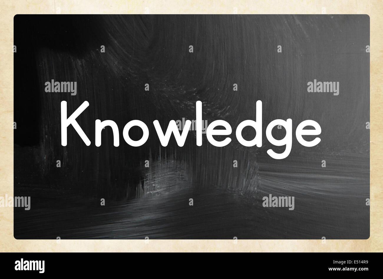 knowledge concept - Stock Image