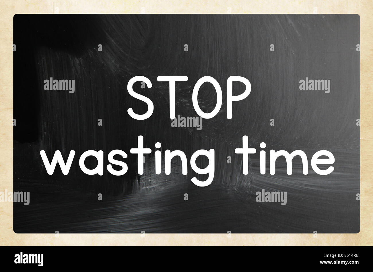 stop wasting time - Stock Image