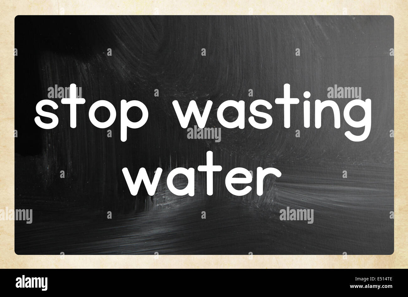 stop wasting water - Stock Image