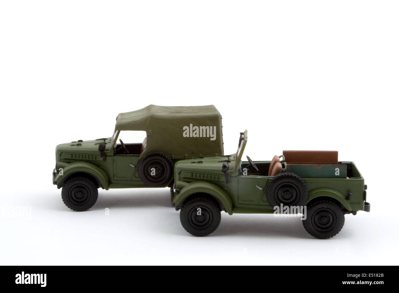 Collection scale model the Off-road car - Stock Image