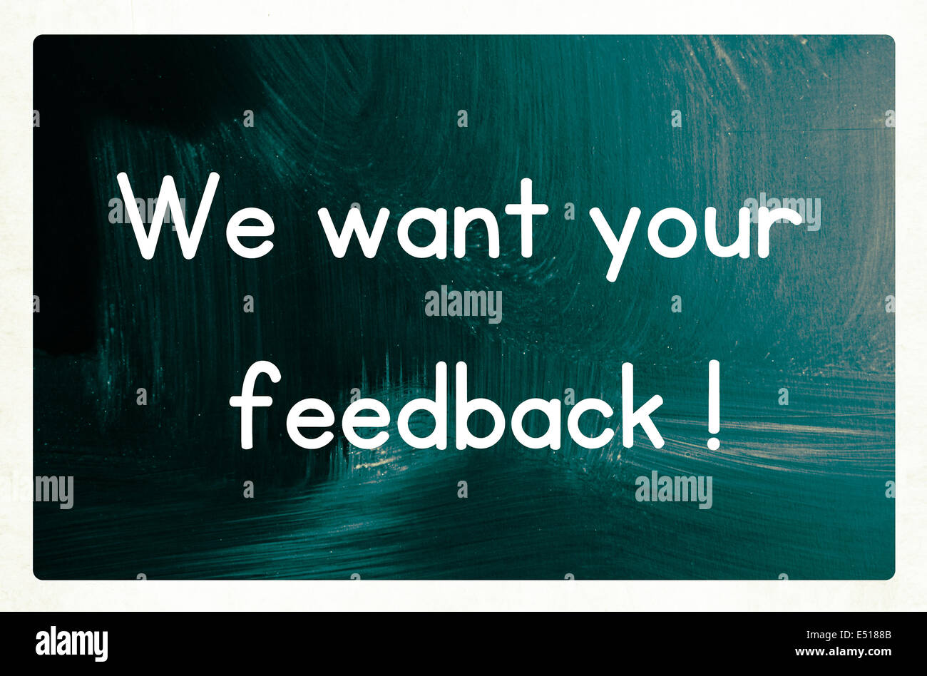we want your feedback concept - Stock Image