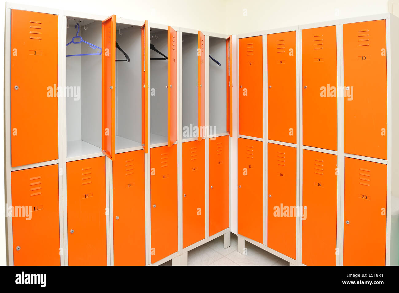 Lockers - Stock Image