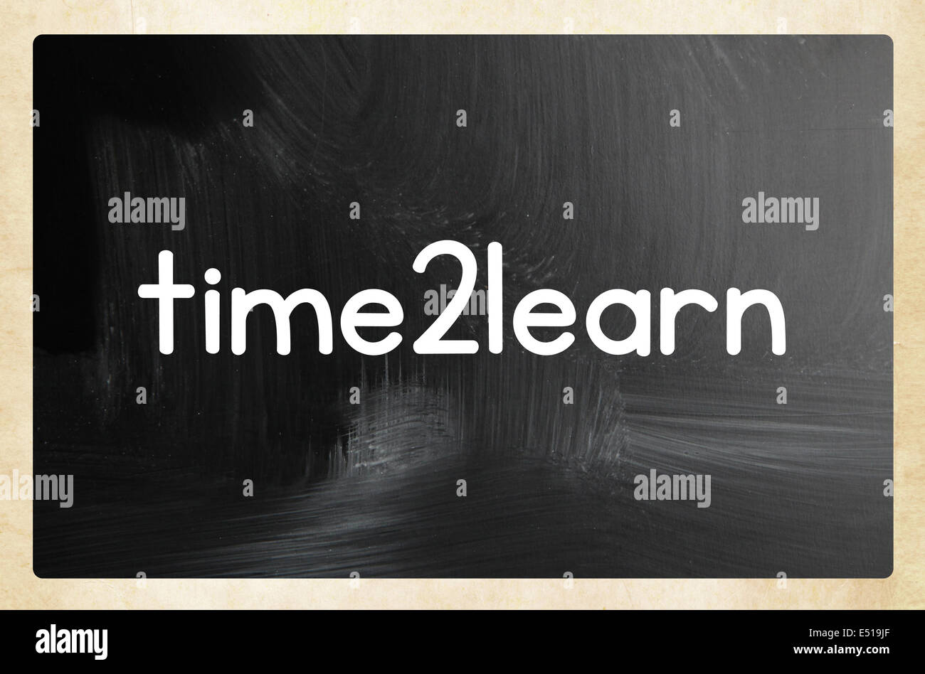 time2learn concept - Stock Image