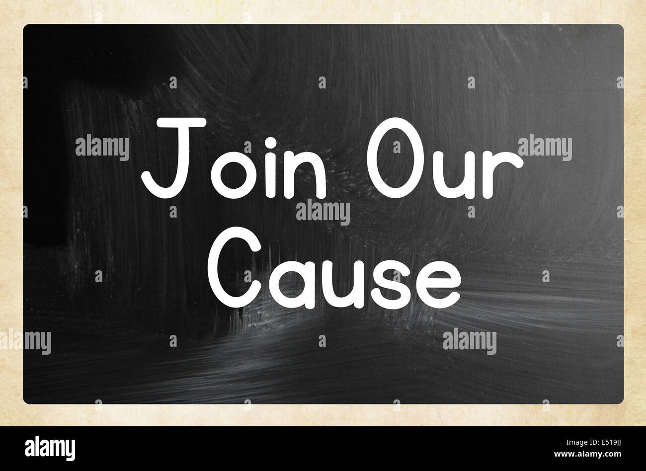 join our cause concept - Stock Image