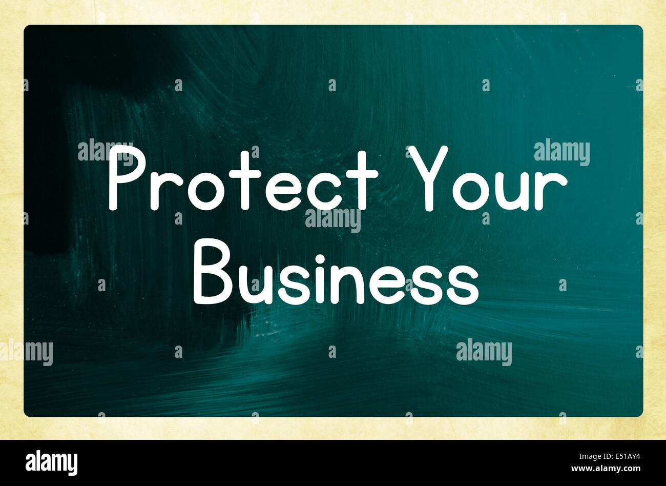 protect your business - Stock Image