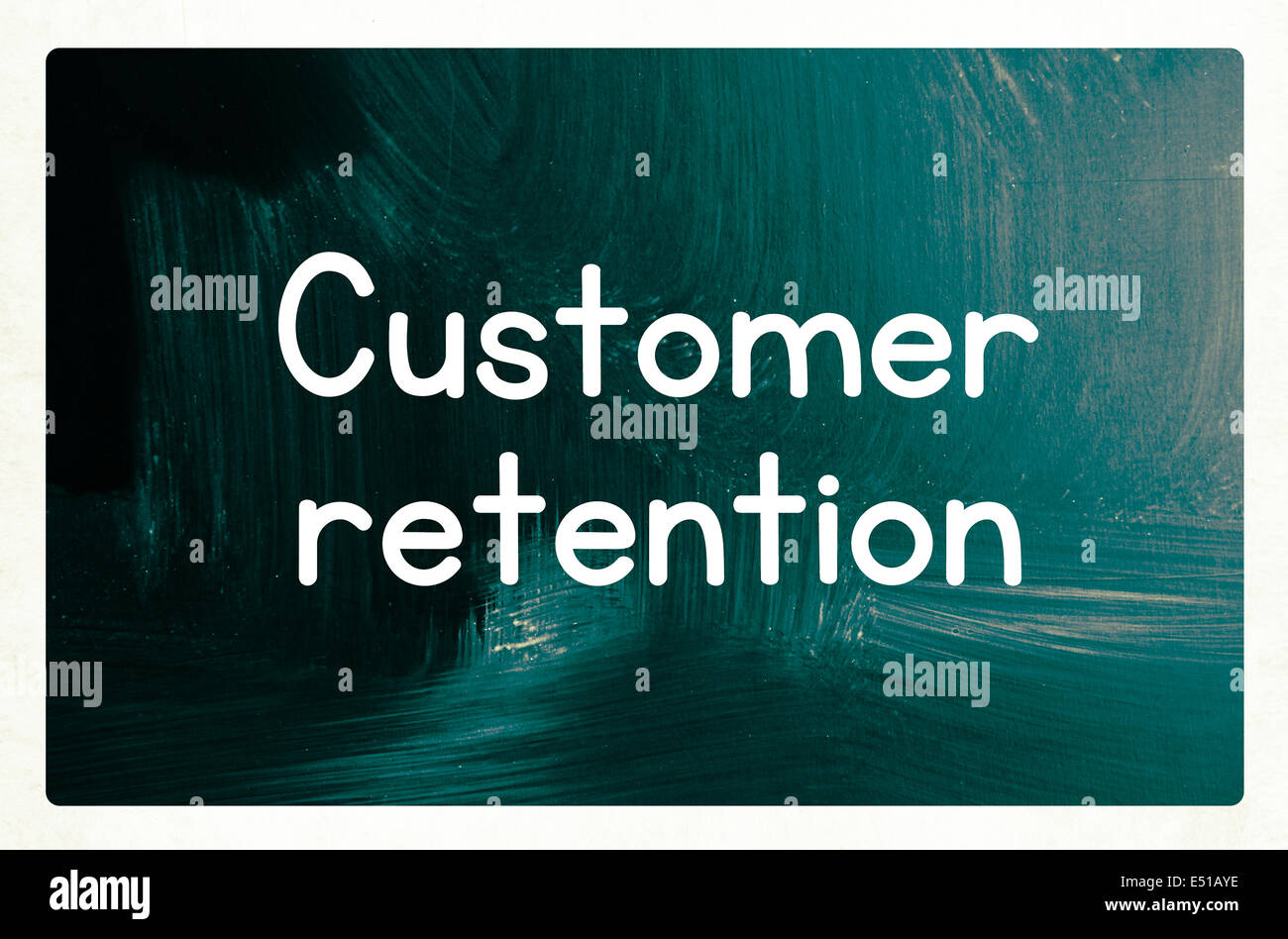 customer retention concept - Stock Image