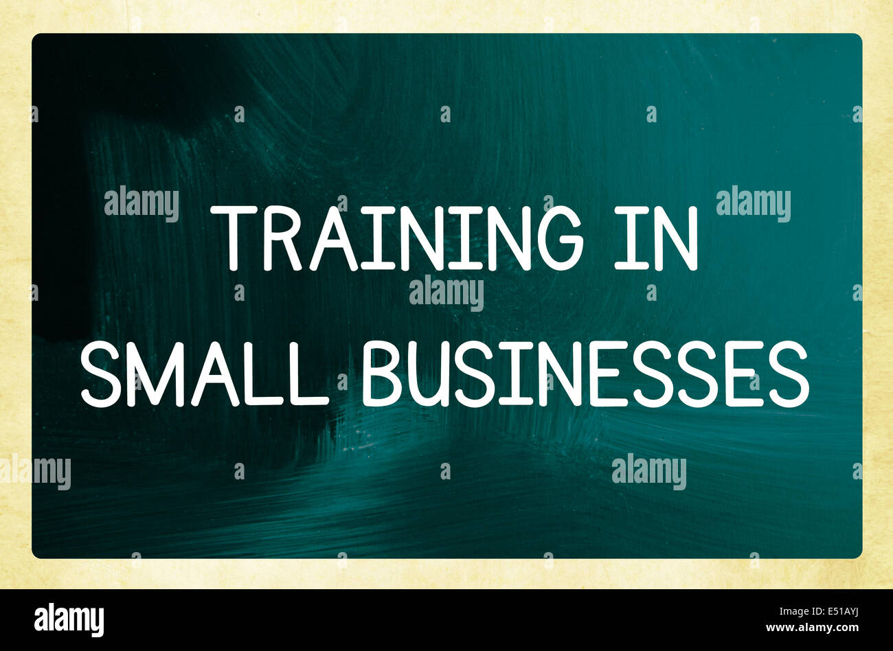 training in  small businesses - Stock Image