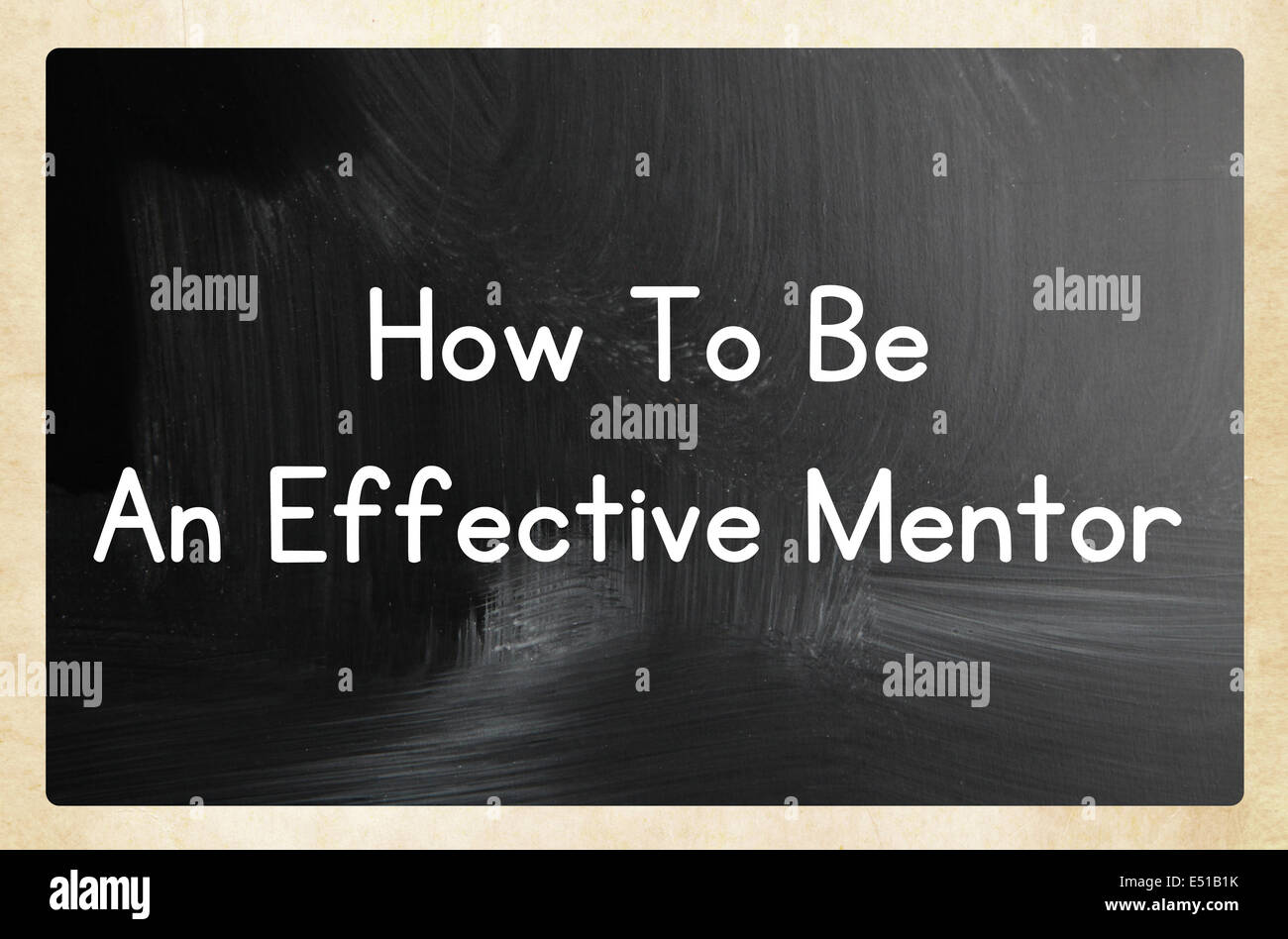 how to be an effective mentor - Stock Image