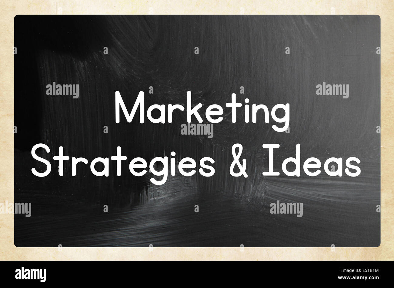 marketing strategies  ideas - Stock Image
