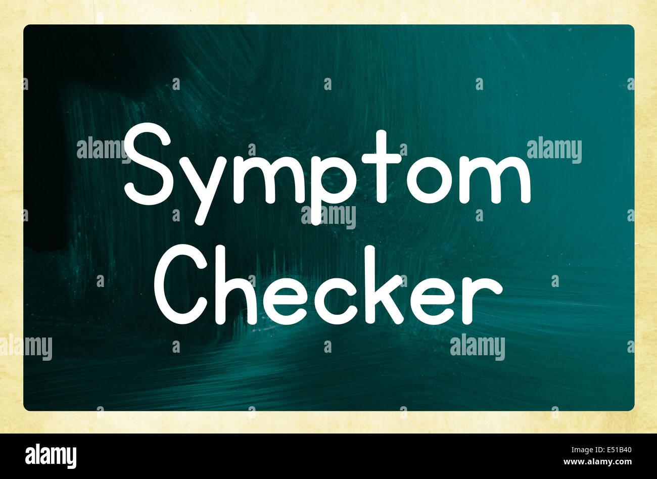 symptom checker - Stock Image