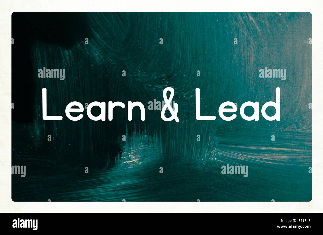 learn and lead concept - Stock Image