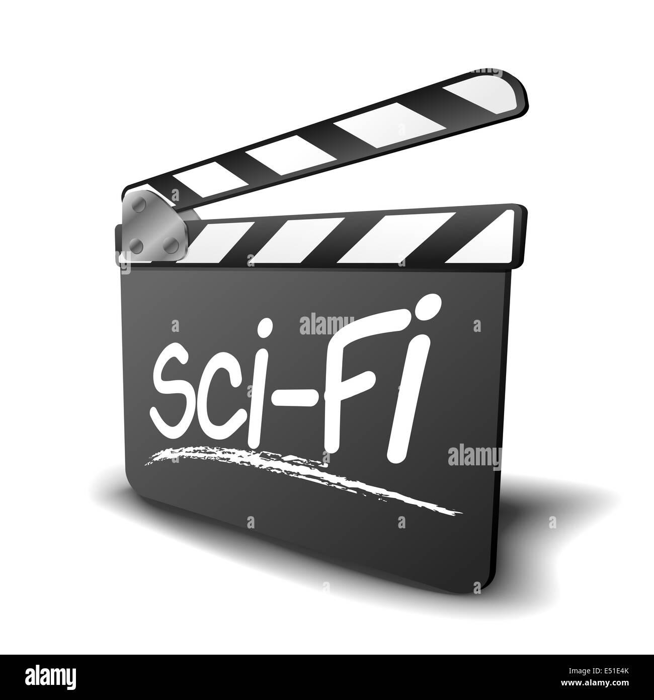clapper board sci-fi - Stock Image