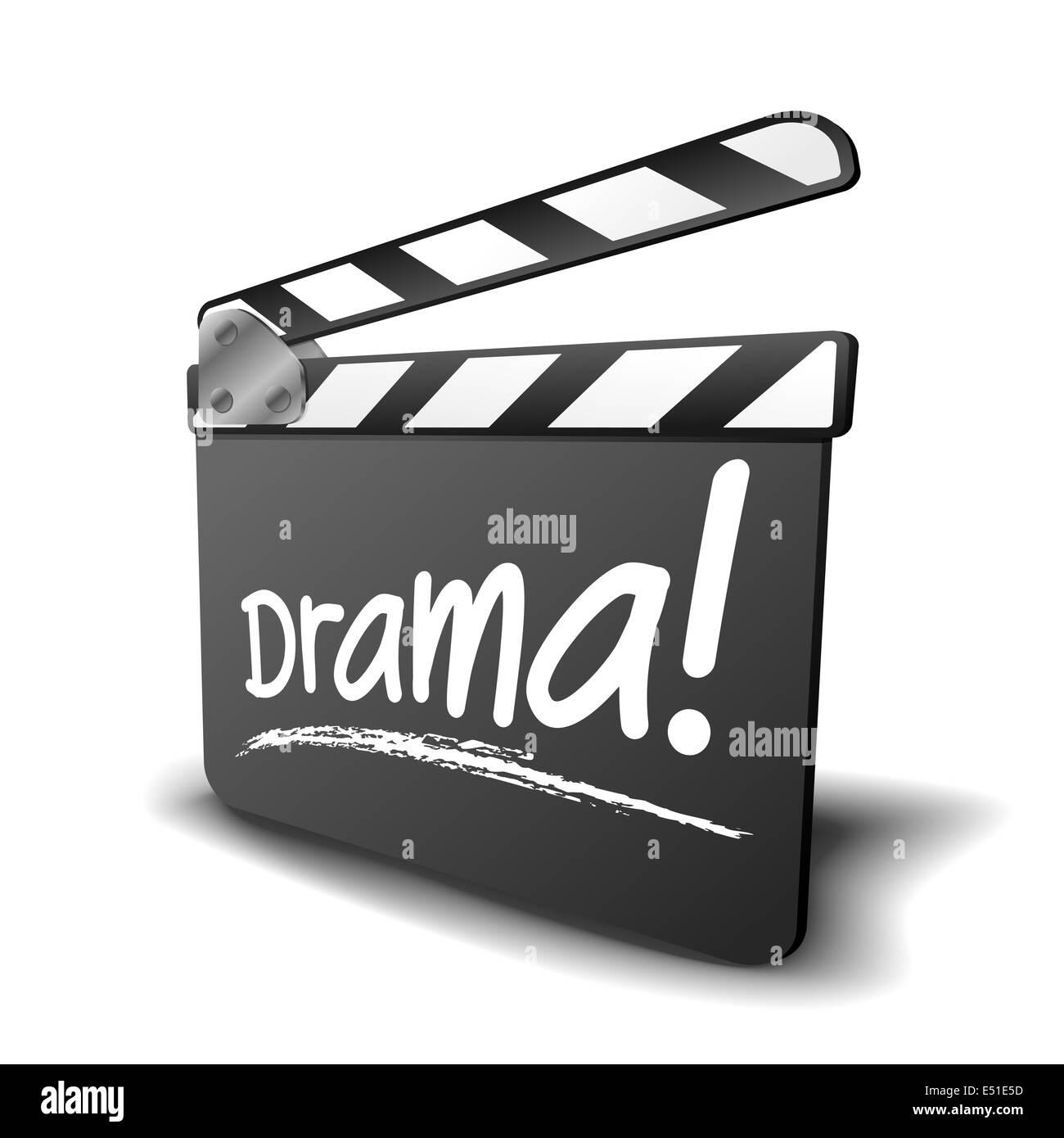 clapper board drama - Stock Image