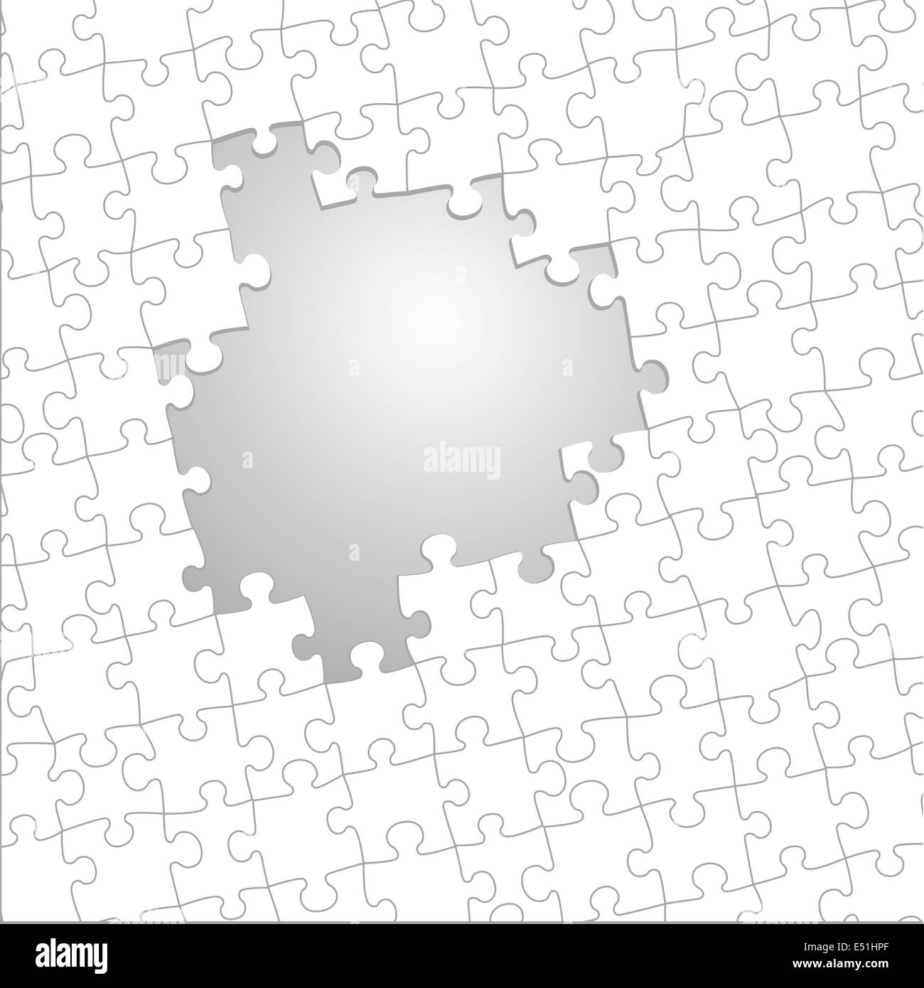 Jigsaw Puzzle Infographic Template Stock Photos
