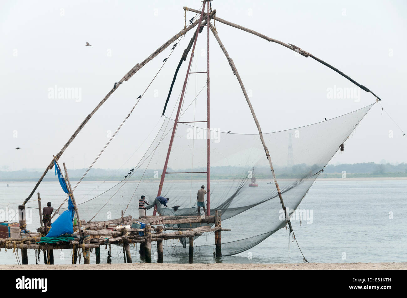 Chinese net, Fort kochi - Stock Image
