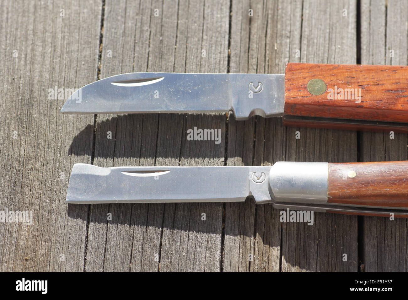 Garden knifes - Stock Image