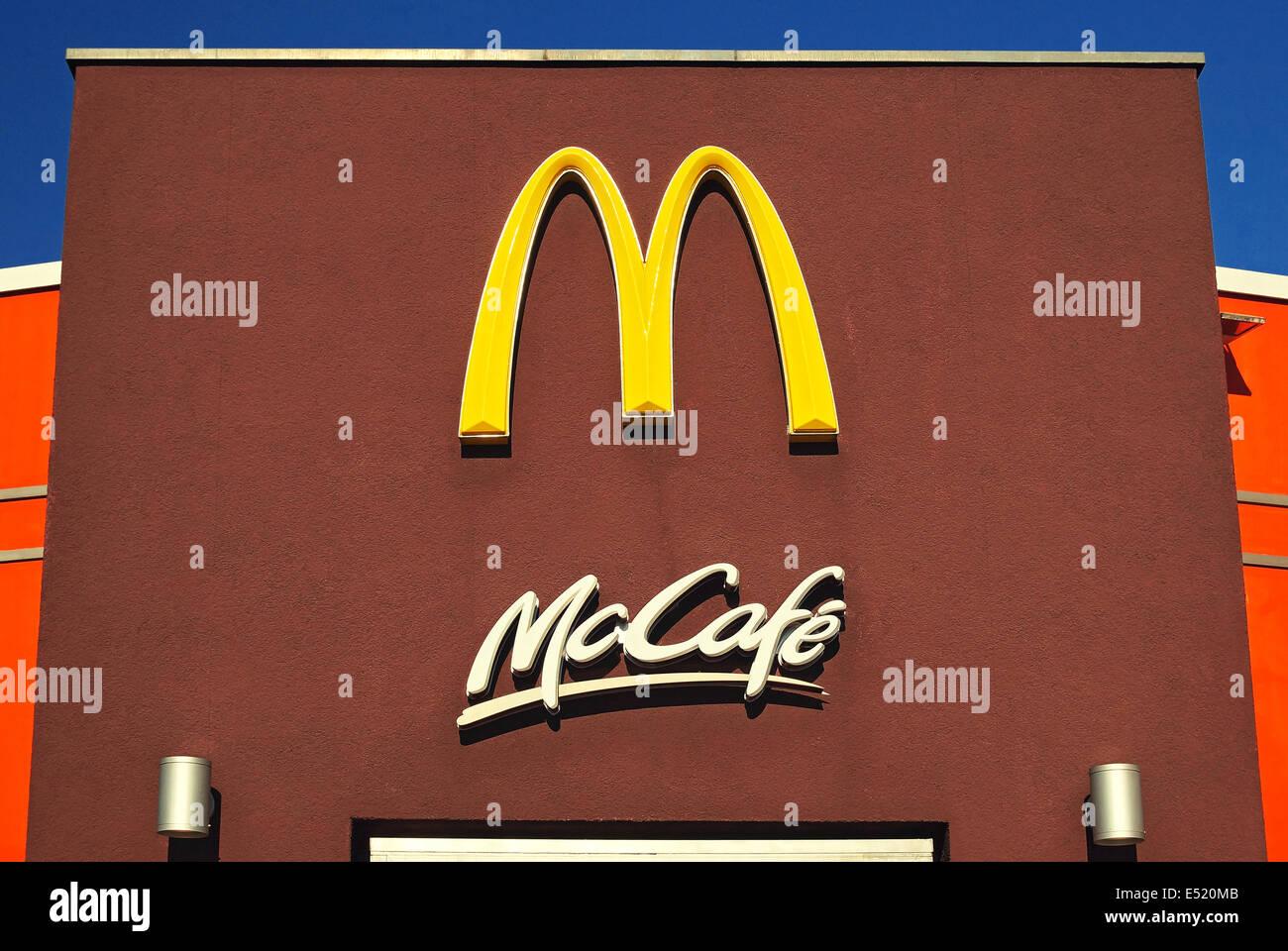 McDonalds Logo - Stock Image